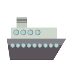 Silhouette boat for transport merchandise vector