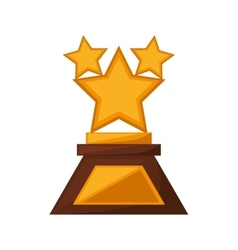 Stars trophy awards golden vector