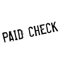 Paid check rubber stamp vector