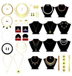 Jewerly set vector image
