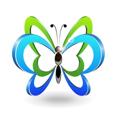 Decorative butterfly vector image