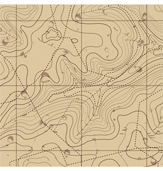 Abstract retro topography map background vector