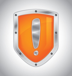 Security alert shield vector