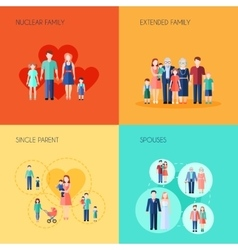 Set of 2x2 design family vector