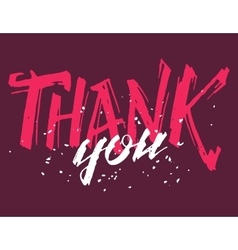 Thank you grunge calligraphy vector