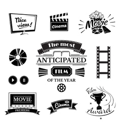 Movie signs set vector