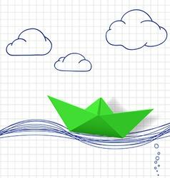 Paper boatstock vector