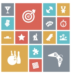 Icons tile leisure sport vector