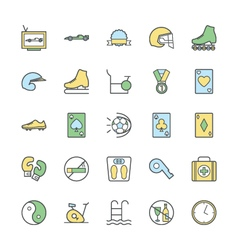 Sports bold icons 4 vector