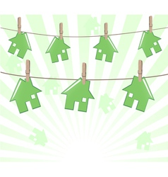 houses on ropes vector image