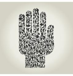 Hand workers vector image