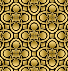 abstract golden seamless pattern vector image vector image