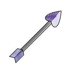 arrow heart shape vector image vector image