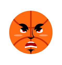 Basketball angry emoji ball grumpy emotion vector