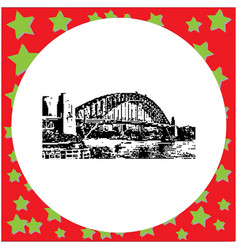 black 8-bit sydney harbor bridge vector image vector image
