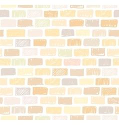 Brick wall light seamless pattern drawing vector