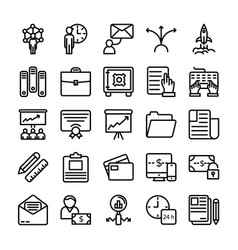 Business and office line icons 12 vector