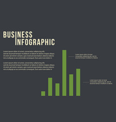 Business graph concept infographic design vector