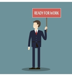 Businessman Ready for Work vector image vector image