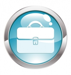button with briefcase vector image vector image
