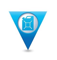 Canister blue triangular map pointer vector