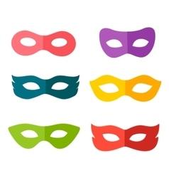 carnival mask set vector image vector image