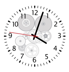 clock and gears vector image vector image