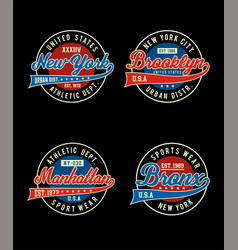 college sport set t-shirt vector image vector image