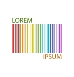 Colorful barcode vector
