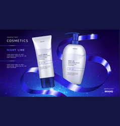 cosmetic ads template vector image