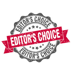 Editors choice stamp sign seal vector