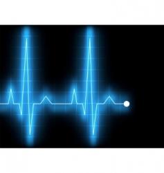 electrocardiogram ecg vector image vector image