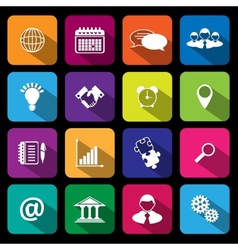 Flat Business Icons vector image vector image