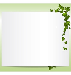 Frame with ivy leaves vector