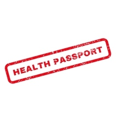 Health passport text rubber stamp vector