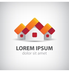 houses origami paper icon logo isolated vector image vector image