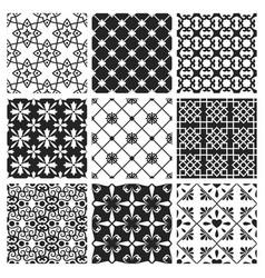 interior moroccan design black ceramic set vector image