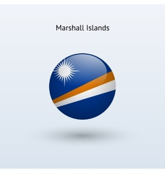 Marshall islands round flag vector