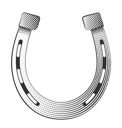 Metal horseshoe vector