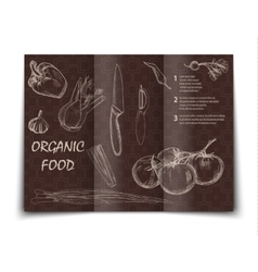 Organic food brochure for design vector image vector image