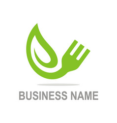 Organic food vegetarian business logo vector