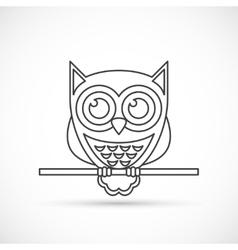 Owl outline icon vector