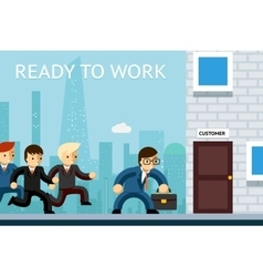 Ready to work Business managers waiting for vector image vector image