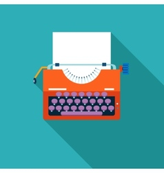 Retro vintage creativity symbol typewriter and vector