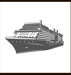 Ship logo template vector