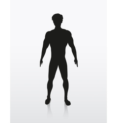 silhouette of the human body vector image