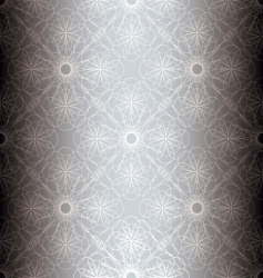 silver floral spiral background vector image vector image