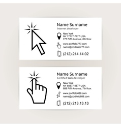 Simple business card templates vector image