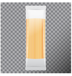 spaghetti capellini pasta package isolated on vector image vector image