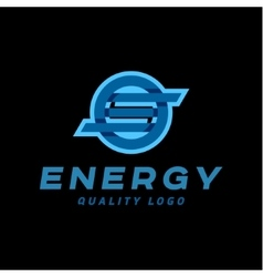 Technology abstract brand logo sign into vector image